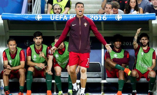Cristiano Ronaldo oli aktiivinen kapteeni.
