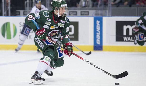 17-vuotias Rasmus Dahlin pelaa toista kautta Ruotsin pääsarjassa Frölundan riveissä.