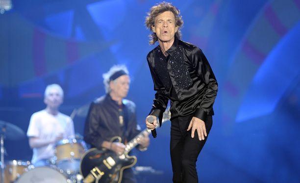 Mick Jagger ja muut The Rolling Stonesin jäsenet ovat Etelä-Amerikassa jatkuvan vartioinnin alla. Kuva on Buenos Airesin konsertista torstailta.