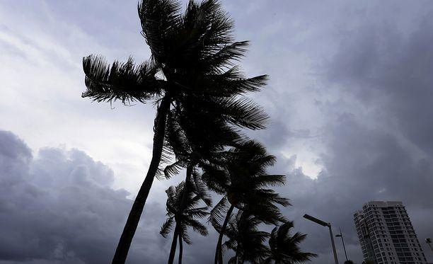Irma-hurrikaanin tulo näkyi jo eilen.