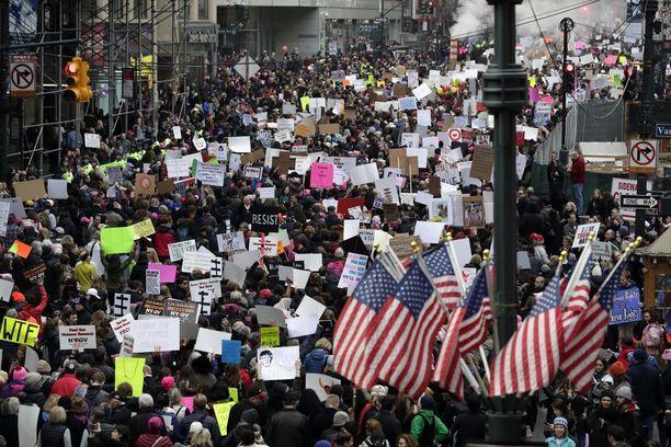 Mielenilmaisu järjestettiin myös New Yorkissa.