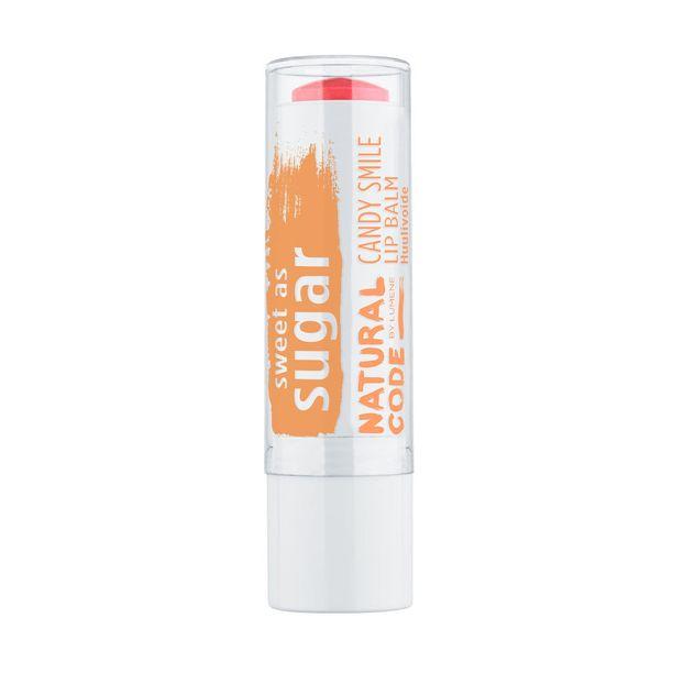 Lumenen Natural Code Candy Smile -huulivoiteesta löytyy sekä sävyjä että väritön vaihtoehto, 3,90 e