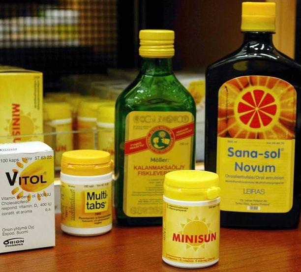 Suomalaiset ovat jo nyt ottaneet vakavasti varoitukset liian vähäisestä D-vitamiinin saannista. Vitamiinivalmisteiden myynti on kasvanut huomattavasti.