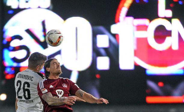 Sandhauhen hävisi 1. FC Nürnberg 0-2 - ensimmäisessä bordellin sponsoroimassa ottelussa.