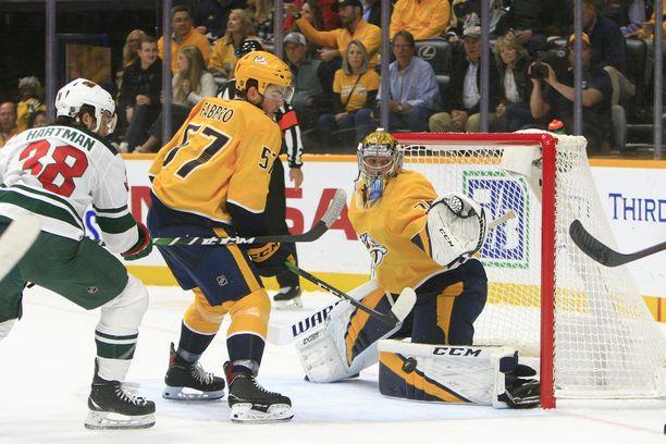Nashville Predatorsin Pekka Rinne on ollut kauden alusta lähtien erinomaisessa vireessä.