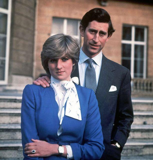 Prinssi Charles ja prinsessa Diana vuonna 1981. Pariskunnan kihlajaiskuva.