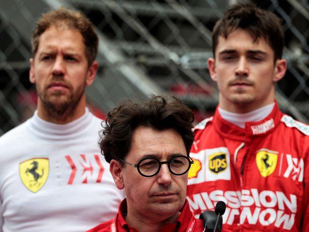 Jyrki Järvilehdon mukaan Mattia Binotto ei ole kyllin hyvä ihmisjohtaja pitääkseen Sebastian Vettelin ja Charles Leclercin tyytyväisenä samaan aikaan.