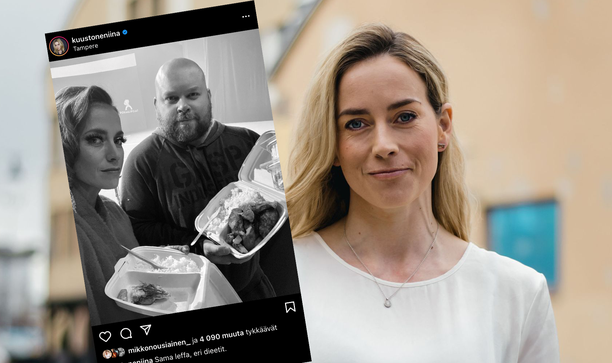 Iina Kuustonen ja Mikko Töyssy tähdittävät Punttikomedia-elokuvaa.