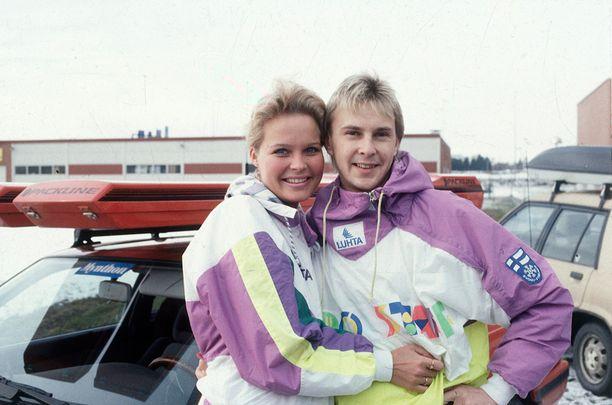 Vuonna 1989 Lahden MM-kisojen aikaan Matti Nykäsen kainalossa oli Pia Hynninen