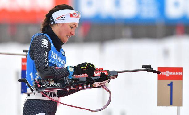 Alexia Runggaldier pääsi torstaina Anterselvassa ensimmäistä kertaa urallaan maailmancupin palkintopallille.