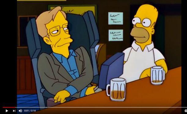 2000-luvun tunnetuin fyysikko on nähty vierailijana myös Simpsoneissa.