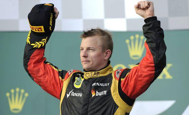 """Kimi Räikkönen korjasi """"helpon"""" voiton Australiassa 2013."""