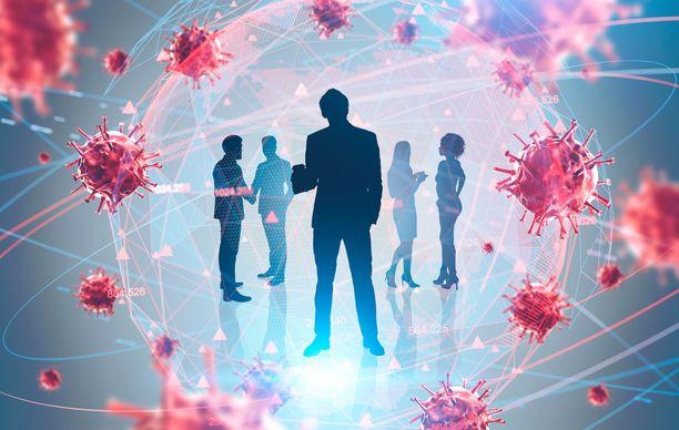 Koronaviruksen leviämistä voidaan ehkäistä monin tavoin. Tärkeitä on välttää lähikontakteja.