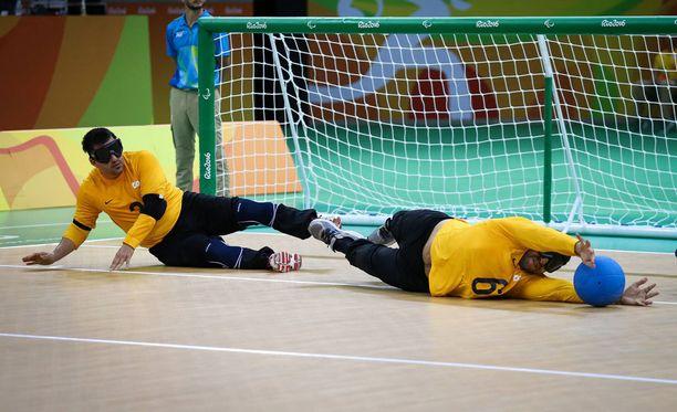 Brasilian maalipalloilijat (kuvassa) kaatoivat Ruotsin Rion paralympialaisten pronssiottelussa.