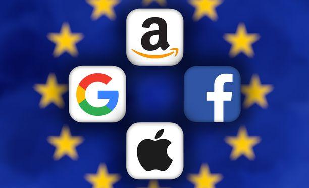 Jättiyhtiöt laitetaan EU:ssa koville.