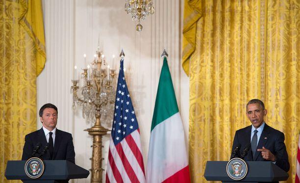 Italian pääministeri ja Yhdysvaltain presidentti Barack Obama tapasivat tämän vuoden huhtikuussa.