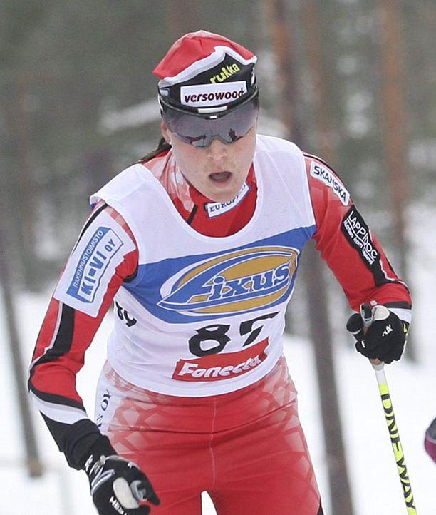 Aino-Kaisa Saarinen saavutti Vancouverin olympialaisissa kaksi pronssimitalia.