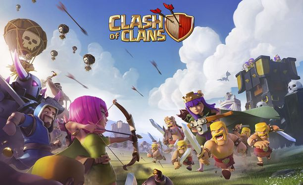 Clash of Clans on Applen App Storen ladatuin peli.