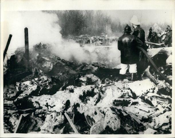 Yhteensä 73 ihmistä kuoli Boeing 707:n syöksyttyä maahan Brysselissä helmikuussa 1961.