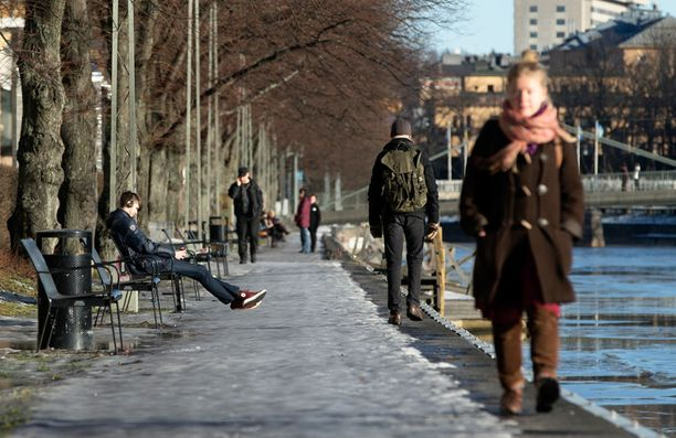 Helmikuun 10. päivä Turussa näytti jo näin keväiseltä.