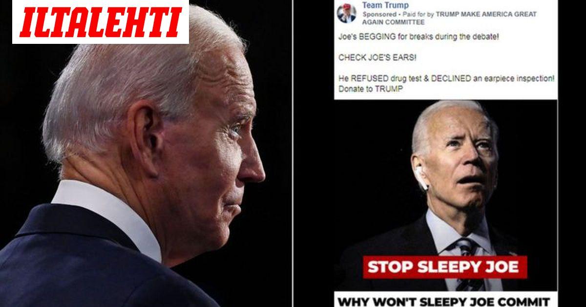 Trumpin mainoksissa väitetään, että Bidenilla oli väittelyssä korvanappi...