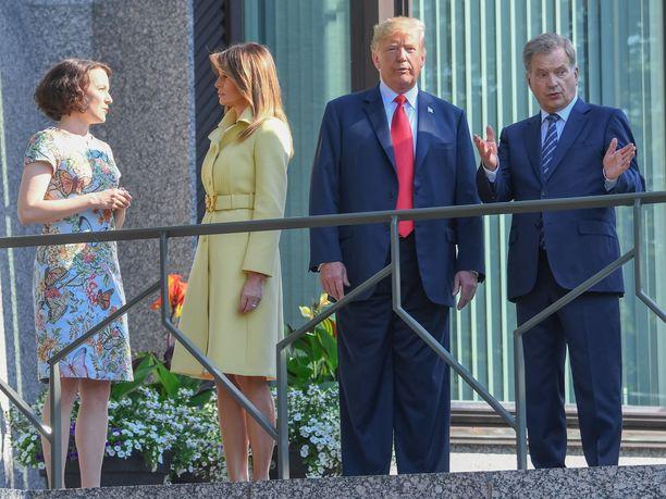 Trump vieraili Suomessa heinäkuussa 2018.