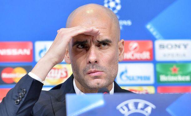 Pep Guardiolan valeasu ei toiminut.