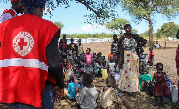 Kuvassa pakolaisia Sudanista.
