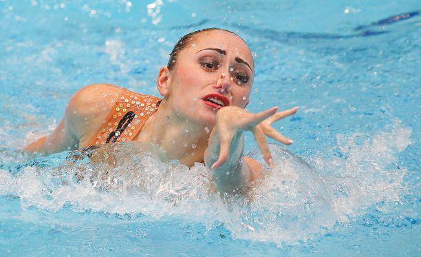 Anna Voloshyna valmistautui Rion kisoihin omalla tavallaan.