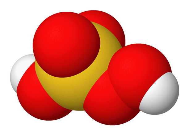 Molekyylikaava. Piraijaliuoksen aktiivinen aine on peroksimonorikkihappo (kuvassa). Kaksi videoupotusta löytyy alempaa.