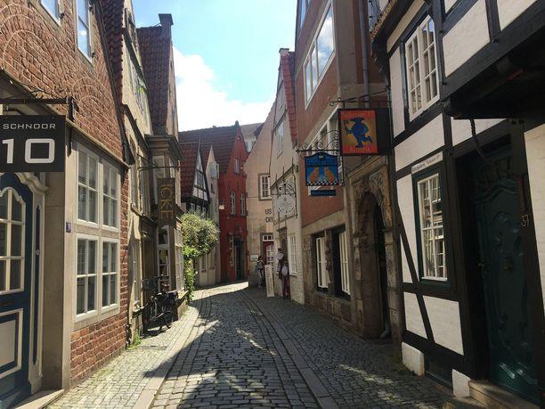 Kapeiden katujen ja vanhojen talojen Schnoor on hurmaava alue.