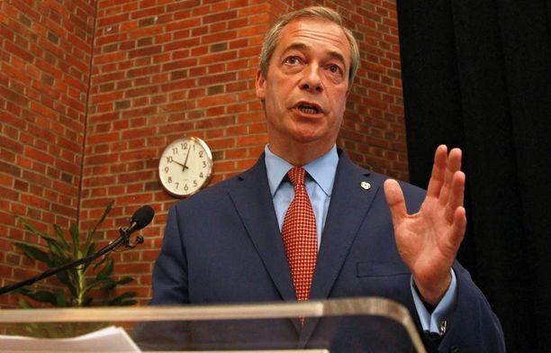 Ukipin johtaja Nigel Farage ilmoitti erostaan tänään.