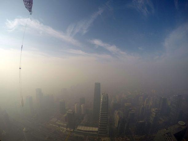 Savusumua Pekingin yllä joulukuussa.