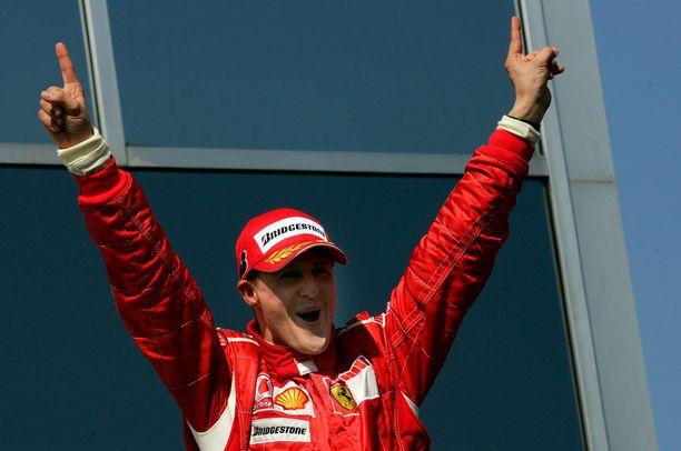 Michael Schumacherin työmoraali oli aikanaan omissa sfääreissään.