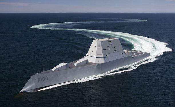 USS Zumwolt on maailman edistyksellisin ja kenties oudoimman näköinen hävittäjä.