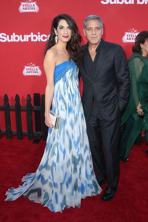 George Clooneyn ei enää tarvitse tehdä kahvimainoksia. Vierellä vaimo Amal Clooney.