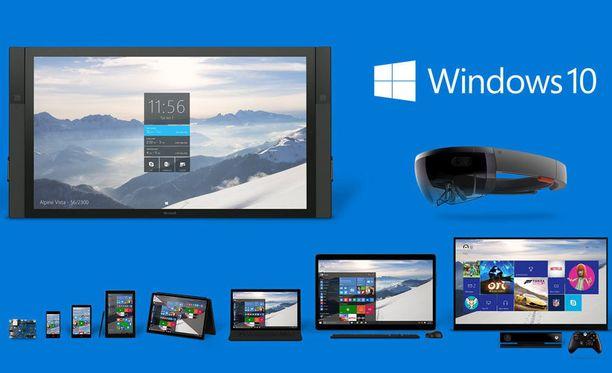 Windows 10 toimii erilaisilla laitteilla pienistä suuriin.