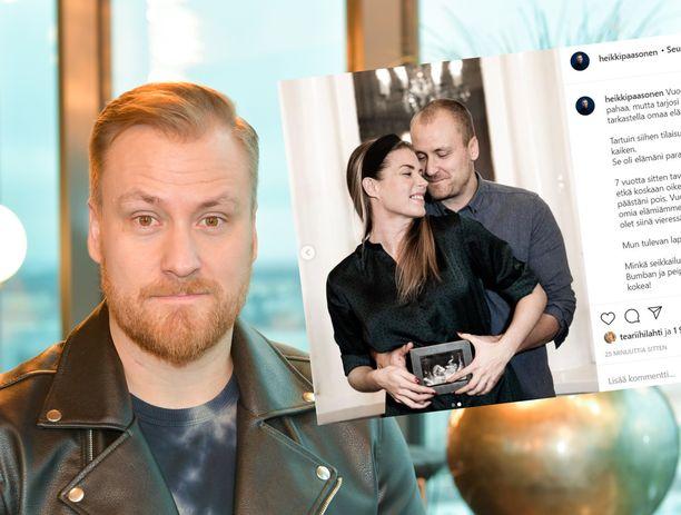 Heikki Paasonen odottaa rakkaansa kanssa perheenlisäystä.