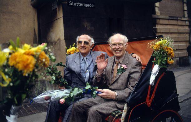 Axel ja Eigil Axgil vastavirallistettuna parina tasan 30 vuotta sitten.