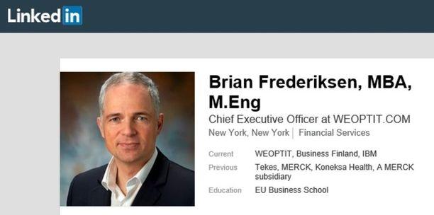 Brian Frederiksen aloitti Tekesissä maaliskuussa 2017. Elokuussa 2017 Frederiksen siirtyi Tekesin asiakasyrityksen toimitusjohtajaksi.