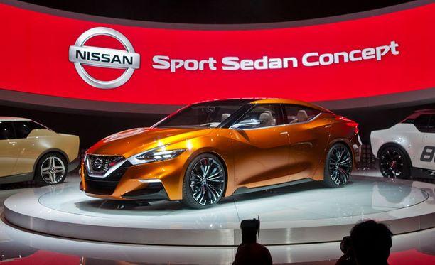 Nissanin Sport Sedanin konsepti avaa houkuttelevia näkymiä Nissanin tulevaisuuteen. Konehuoneessa 300-hevosvoimainen 3,5-litrainen V6.