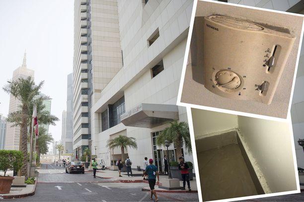 Suomen joukkueen käyttämässä hotellissa Dohassa ei ole siivouspalvelu toiminut parhaalla mahdollisella tavalla.