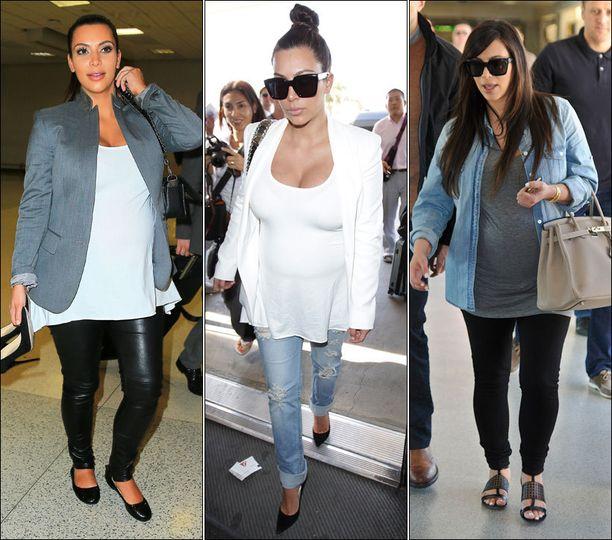 Lennoille Kim pukeutuu käytännöllisemmin. Vaihtokengätkin ovat mukana (vas.).