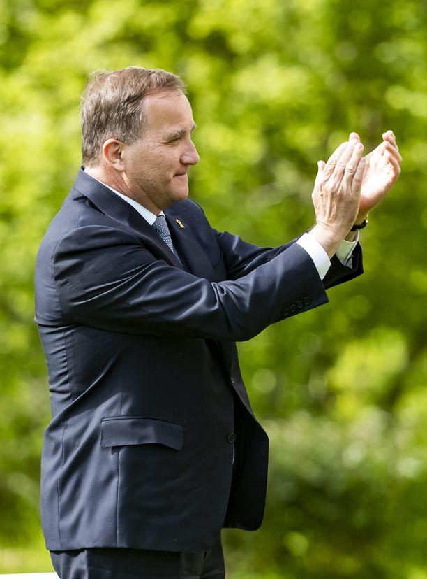 Pääministeri Stefan Löfvenin puolue on nostanut kannatustaan.