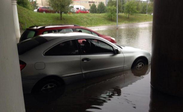 Hyvinkäällä tulvi eilen.
