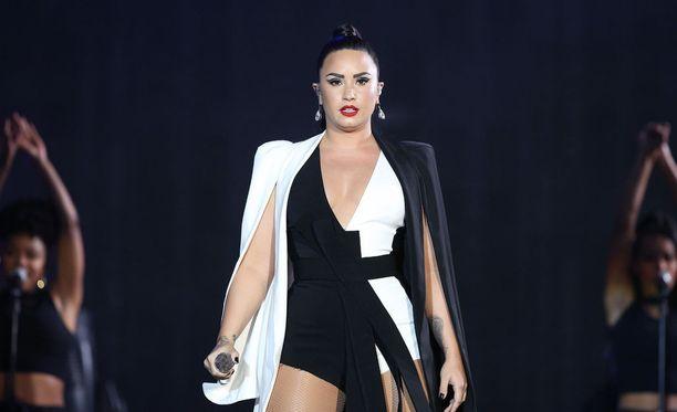 Kuvassa Demi Lovato esiitymässä Lissabonissa, Rock de Rio Lisboa-tapahtumassa kesäkuussa.