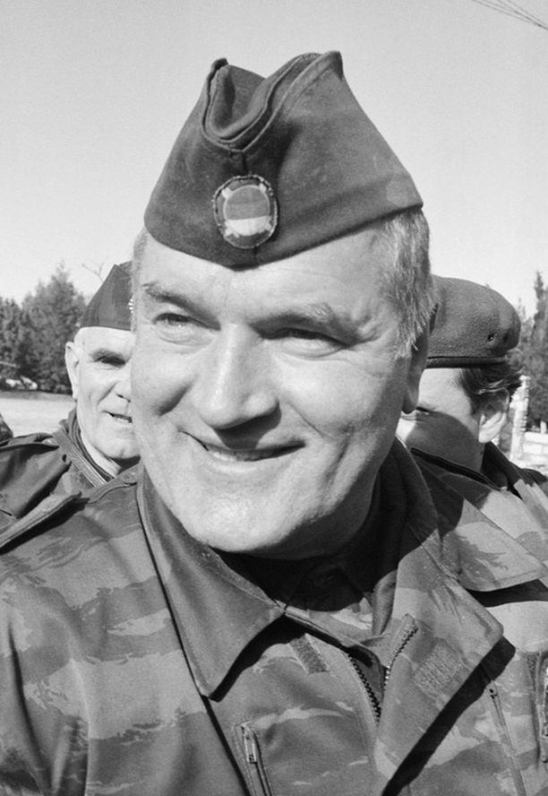 Ratko Mladic vuonna 1992.