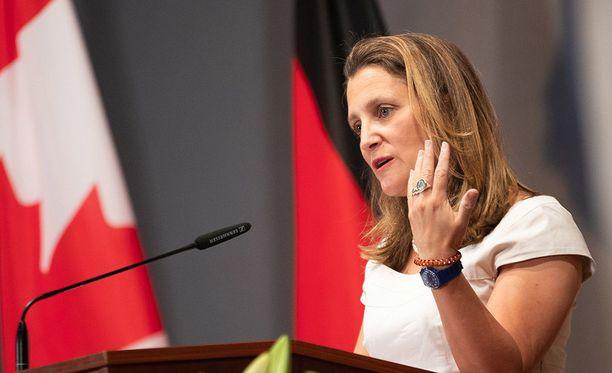 Kanadan ulkoministeri Chrystia Freelandin mukaan uusi sopimus Naftasta on lähellä.
