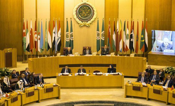 Arabiliitto piti viikonloppuna hätäkokousta päämajassaan Kairossa, Egyptissä.