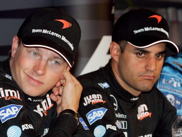 Kimi Räikkönen ja Juan Pablo Montoya ajoivat McLarenilla tallitoveruksina puolentoista kauden ajan 2005-2006.